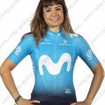 2019 Team MOVISTAR Womens Lady Cycling Clothing Jersey Shirt Blue