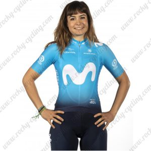 2019 Team MOVISTAR Womens Lady Cycling Clothing Kit Blue