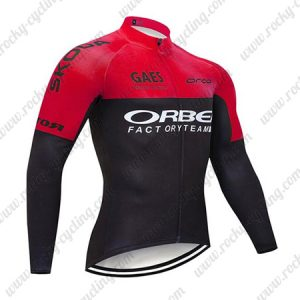 2019 Team ORBEA Biking Outfit Riding Long Sleeves Jresey Red Black2019 Team ORBEA Biking Outfit Riding Long Sleeves Jresey Red Black