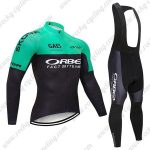 2019 Team ORBEA Cycling Clothing Riding Long Bib Suit Green Black
