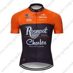 2019 Team Roompot Charles Cycling Clothing Riding Jersey Shirt Orange Black