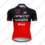2019 Team SHIMANO Kixx Biking Clothing Cycling Jersey Shirt Black Red