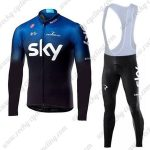 2019 Team SKY Castelli Biking Wear Cycling Long Bib Suit Blue Black