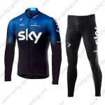 2019 Team SKY Castelli Biking Wear Cycling Long Suit Blue Black