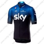 2019 Team SKY Castelli Cycling Outfit Jersey Shirt Blue Black