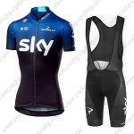 2019 Team SKY Castelli Womens Ladies Biking Wear Riding Bib Kit Blue Black