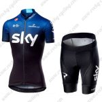 2019 Team SKY Castelli Womens Ladies Cycling Clothing Riding Kit Blue Black