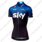 2019 Team SKY Castelli Womens Lady Cycling Clothing Riding Jersey Shirt Blue Black