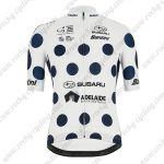 2019 Team SUBARU Santini Cycle Wear Riding Jersey Shirt White Blue Dot2019 Team SUBARU Santini Cycle Wear Riding Jersey Shirt White Blue Dot