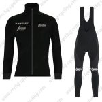 2019 Team TREK Segafredo Cycle Wear Riding Long Bib Set Black