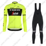 2019 Team TREK Segafredo Cycling Clothing Riding Long Bib Set Yellow