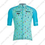 2019 Team TREK Segafredo Santini Biking Clothing Riding Jersey Shirt Blue