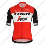 2019 Team TREK Segafredo Santini Cycle Clothing Jersey Shirt Red White Black
