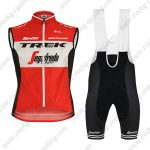 2019 Team TREK Segafredo Santini Cycling Apparel Sleeveless Bib Kit Red
