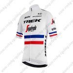 2019 Team TREK Segafredo Santini France Riding Wear Jersey Shirt White