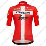 2019 Team TREK Segafredo Santini Switzerland Riding Apparel Jersey Shirt Red