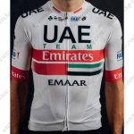 2019 Team UAE Team Emirates EMAAR Cycling Wear Jersey Short Sleeves White