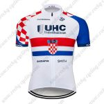 2019 Team UHC Biking Clothing Cycle Jersey Shirt White Red Blue