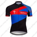 2019 Team Wilier Cycling Clothing Riding Jersey Shirt Black Blue Red