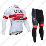 2019 UAE Team Emirates EMAAR Cycle Apparel Riding Long Sleeves Suit White