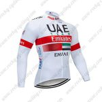 2019 UAE Team Emirates EMAAR Cycling Wear Riding Long Sleeves Jersey White