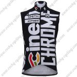 2017 Team Cinelli CHROME Cycling Vest Sleeveless Waistcoat Rain-proof Windbreak Black