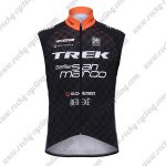 2017 Team TREK selle San marco Cycling Vest Sleeveless Waistcoat Rain-proof Windbreak Black Orange