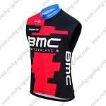 2018 Team BMC Riding Vest Sleeveless Waistcoat Rain-proof Windbreak Red Black