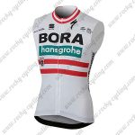 2018 Team BORA hansgrohe Austria Cycling Vest Sleeveless Waistcoat Rain-proof Windbreak White