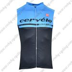 2018 Team Cervelo Biking Vest Sleeveless Waistcoat Rain-proof Windbreak Blue Black
