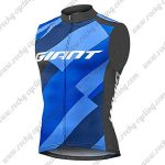 2018 Team GIANT Cycling Vest Sleeveless Waistcoat Rain-proof Windbreak Blue