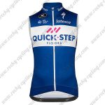 2018 Team QUICK STEP Riding Vest Sleeveless Waistcoat Rain-proof Windbreak Blue White