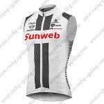2018 Team Sunweb GIANT Cycling Vest Sleeveless Waistcoat Rain-proof Windbreak White