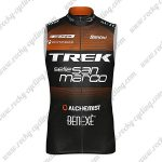 2018 Team TREK selle San marco Cycling Vest Sleeveless Waistcoat Rain-proof Windbreak Black Orange