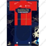 2019 Team BAHRAIN MERIDA Riding Outfit Cycle Clothing Kit Red Blue