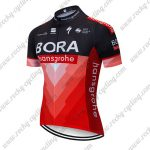 2019 Team BORA hansgrohe Cycling Apparel Riding Jersey Shirt Black Red