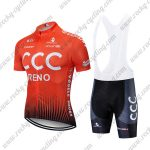 2019 Team CCC RENO Riding Wear Cycle Bib Kit Orange