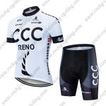 2019 Team CCC RENO Riding Wear Cycle Kit White Black