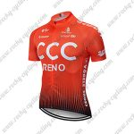 2019 Team CCC RENO Riding Wear Cycling Jersey Shirt Orange