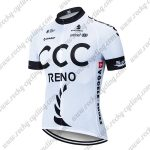 2019 Team CCC RENO Riding Wear Cycling Jersey Shirt White