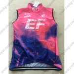 2019 Team EF Cannondale Cycling Vest Sleeveless Waistcoat Rain-proof Windbreak Pink Blue