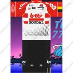 2019 Team LOTTO SOUDAL Riding Outfit Cycle Clothing Kit Red White