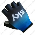 2019 Team SKY Cycling Gloves Riding Mitts Blue Black