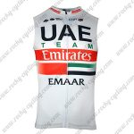 2019 Team UAE Emirates EMAAR Cycling Vest Sleeveless Waistcoat Rain-proof Windbreak White Red
