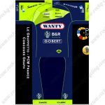 2019 Team WANTY B&R GOBERT Riding Outfit Cycle Clothing Kit Blue Green