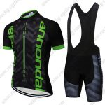 2019 Team Cannondale Cycle Wear Set Riding Apparel Padded Bib Kit Black Green