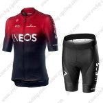 2019 Team Castelli INEOS Biking Apparel Set Riding Kit Red Black