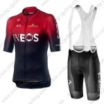 2019 Team Castelli INEOS Cycling Clothing Set Riding Bib Kit Red Black