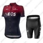 2019 Team Castelli INEOS Womens Biking Apparel Set Lady Riding Kit Red Black