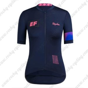 2019 Team EF Rapha Womens Cycling Clothing Lady Riding Jersey Shirt Blue Pink